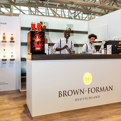 Brown-Forman B2B-Messestand