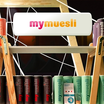Mymuesli-fair stand at the Huishoudbeurs